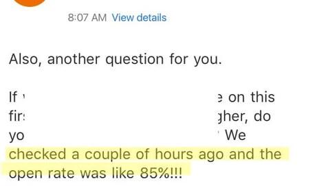 Case Study Client Message